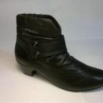 Rieker - krásná kotníčková zateplená botka s malým podpatkem