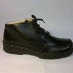 Rieker - kotníčková zavazovací bota z hladké černé kůže