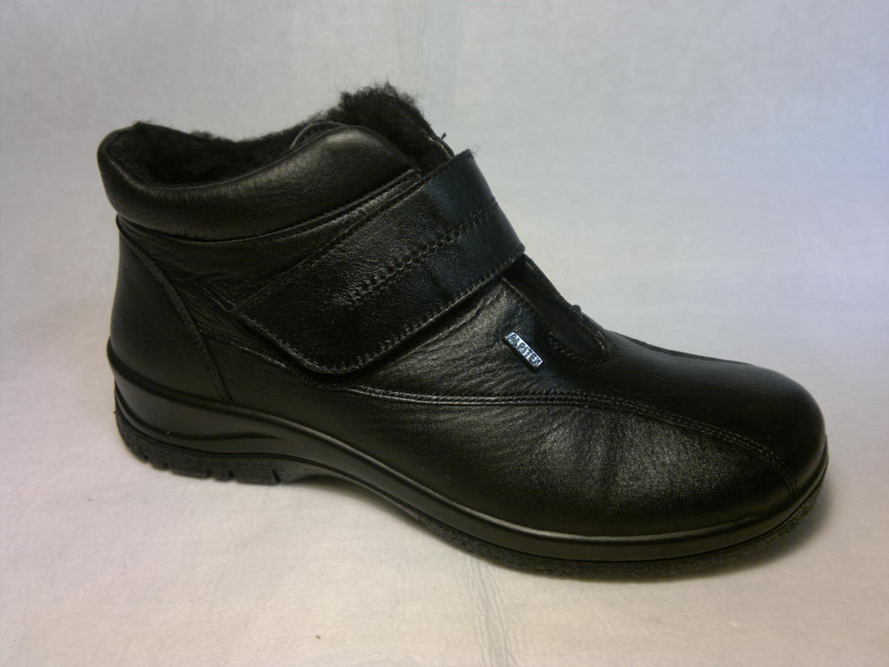 Agb - zateplená široká kotníčková botka, se zapínáním na suchý zip