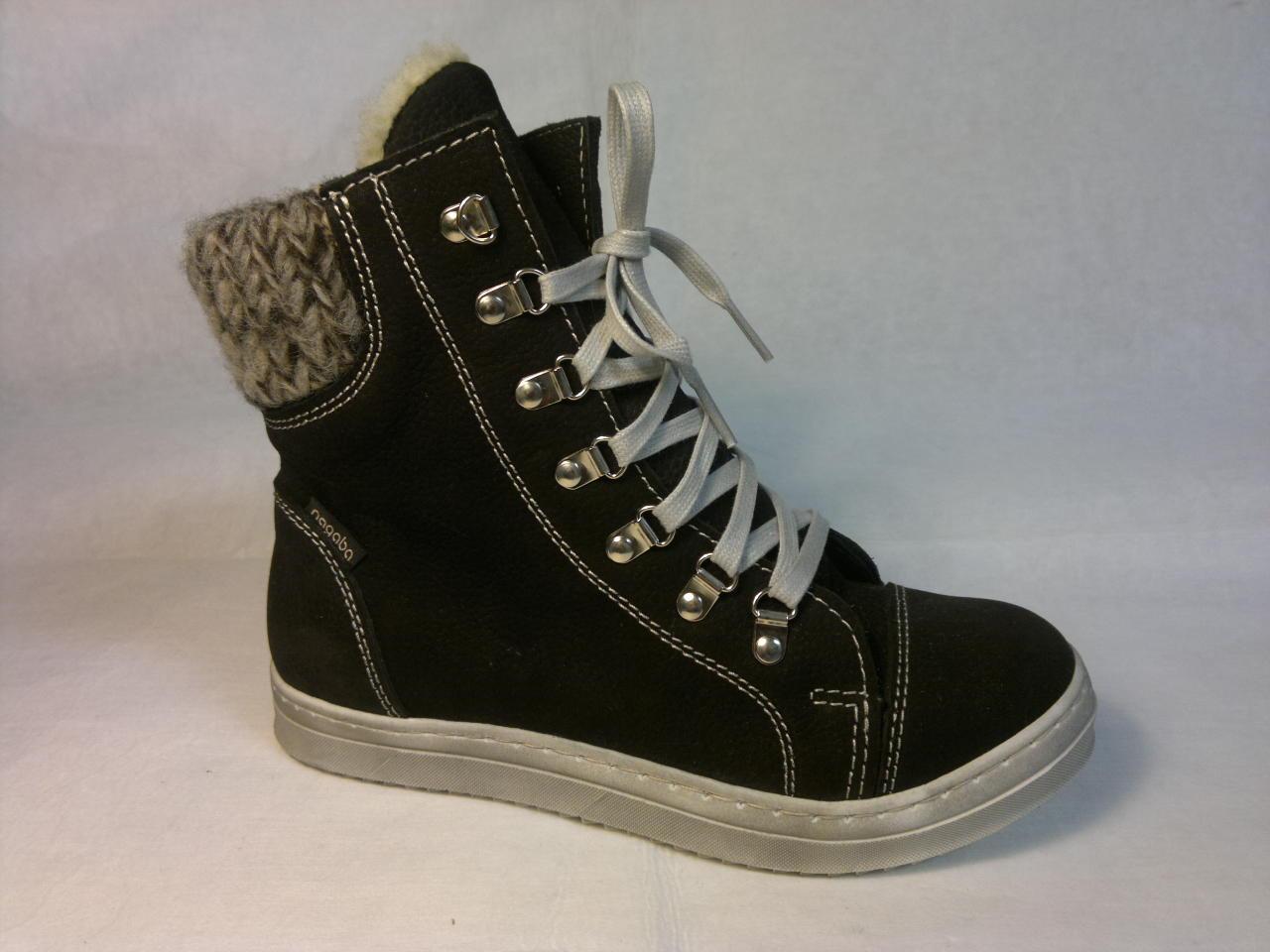 Nagaba - mladistvá, zateplená botka, zapínání je na tkaničku nebo zip na straně