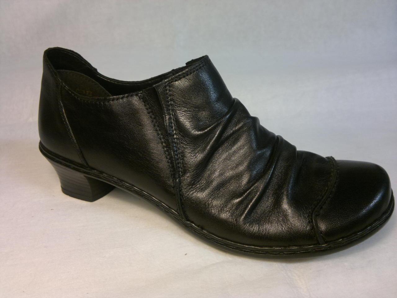 Rieker - zateplená botka s malým pdopatkem a dvěma gumičkami