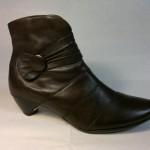 Remonte - lehce zateplená hnědá botka se zapínáním na zip