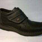 Rieker - zateplená, široká bota se suchým zipem