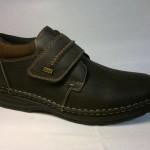 Rieker - zateplená, široká bota se suchým zipem, hladká špička