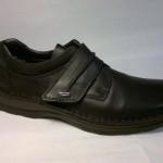 Rieker - černá polobotka s pro širší nohu regulovatelná suchým zipem